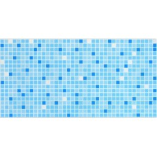 Панель интерьерная ПВХ  957 х 480 мм Мозаика Голубой микс
